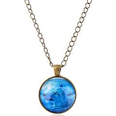 preiswerte Halsketten-Herrn Damen Anhängerketten - Tier, Wolf Europäisch, Rockig lieblich Silber, Bronze Modische Halsketten Schmuck 1 Für Geburtstag, Geschenk