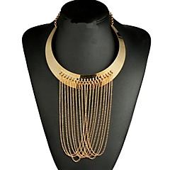 abordables Collares-Mujer Collares de cadena Collares Declaración Cristal Forma Geométrica Legierung Sensual Étnico Moda Joyería Destacada De Gran Tamaño