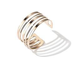 Жен. Браслет разомкнутое кольцо европейский Мода Сплав Геометрической формы Бижутерия Назначение Повседневные Свидание