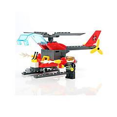 Klocki Wóz strażacki Helikopter Zabawki Wojskowy Chłopcy 83 Sztuk