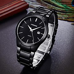 Men's Dress Watch Japanese Quartz Calendar / date / day Water Resistant / Water Proof Stainless Steel Band Cool Minimalist Black