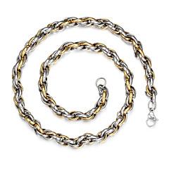 Недорогие Ожерелья-Муж. На каждый день Простой стиль Мода Цепочка Сплав Цепочка , Новогодние подарки