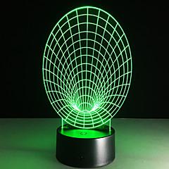 οδήγησε 3d στερεοφωνικό οπτικό δημιουργικό φως όνειρο ρομαντικό φως νύχτας (usb ή 3 * aaa μπαταρία δεν τροφοδοτείται μπαταρία