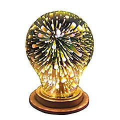 preiswerte LED-Birnen-1pc 4W 350lm E26 / E27 LED Kugelbirnen A60(A19) 28 LED-Perlen Integriertes LED 3D Feuerwerk sternenklar Dekorativ Mehrere Farben 85-265V