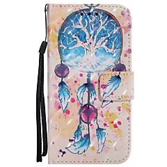billige Etuier til iPhone 6-Etui Til Apple iPhone X iPhone 8 Plus Kortholder Lommebok med stativ Flipp Magnetisk Mønster Heldekkende etui Drømmefanger Hard PU Leather