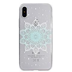 Кейс для Назначение Apple iPhone X iPhone 8 Прозрачный С узором Задняя крышка Мандала Мягкий TPU для iPhone X iPhone 8 Plus iPhone 8