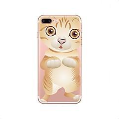 Недорогие Кейсы для iPhone X-Кейс для Назначение iPhone X iPhone 8 Прозрачный С узором Задняя крышка Кот Мягкий TPU для iPhone X iPhone 8 Plus iPhone 8 iPhone 7 Plus