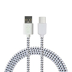 Cwxuan USB 3.1 Tipo C Cabo adaptador, USB 3.1 Tipo C to USB 2.0 Cabo adaptador Macho-Macho 1.8M (6 pés) 480 Mbps