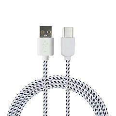 voordelige USB-kabels-Cwxuan USB 3.1 Type C Adapterkabel, USB 3.1 Type C to USB 2.0 Adapterkabel Mannelijk - Mannelijk 1.8M (6Ft) 480 Mbps