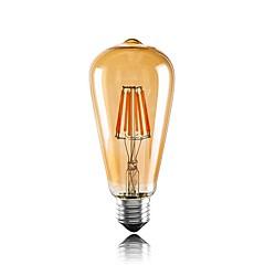 preiswerte LED-Birnen-1pc 6W 560lm E26 / E27 LED Glühlampen ST64 6 LED-Perlen COB Dekorativ Warmes Weiß 220-240V