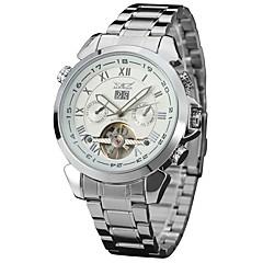 preiswerte Tolle Angebote auf Uhren-Herrn Armbanduhr Kalender / Cool Edelstahl Band Freizeit / Modisch Silber / Automatikaufzug