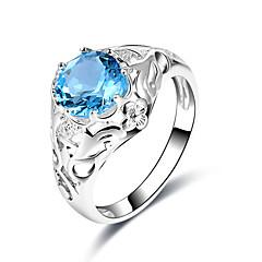 preiswerte Ringe-Damen Statement-Ring Synthetischer Saphir Blau Glas Aleación Geometrische Form Formell Freizeit Elegant Modisch Cool Hochzeit Party
