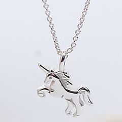 preiswerte Halsketten-Damen Anhängerketten - Sterling Silber Pferd Süß, Elegant Silber Modische Halsketten Schmuck Für Alltag, Normal