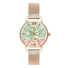 preiswerte Damenuhren-Damen Quartz Armbanduhr Chinesisch Chronograph Wasserdicht Legierung Leder Band Blume Freizeit Böhmische Einzigartige kreative Uhr Modisch