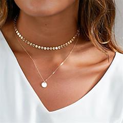 preiswerte Halsketten-Damen Halsketten / Anhängerketten - Grundlegend Gold, Silber Modische Halsketten Für Alltag, Klub
