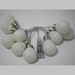 billige LED-stribelys-Lysslynger 10 lysdioder Varm hvid Multifarvet Simple Batteri