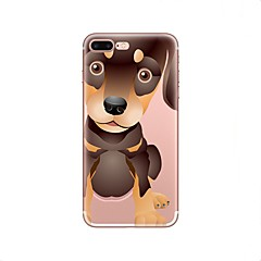 Недорогие Кейсы для iPhone 5с-Кейс для Назначение Apple iPhone X / iPhone 8 Прозрачный / С узором Кейс на заднюю панель С собакой Мягкий ТПУ для iPhone X / iPhone 8 Pluss / iPhone 8