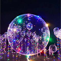 voordelige Oplichtend speelgoed-3M LED-verlichting Ballonnen LED-ballonnen Speeltjes Rond Vakantie Romantiek Verjaardag Valaistus Hervulbaar Glow in the dark Opblaasbaar