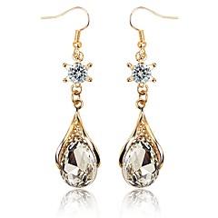 tanie Kolczyki wiszące-Damskie Kryształ Rhinestone Kryształ Kolczyki wiszące - Klasyczny Elegancki Słodkie Gold Kolczyki Na Zaręczynowy Prezent
