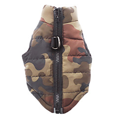 Dog Coat Vest Dog Clothes Breathable Casual/Daily Camouflage Red Green Blue Pink Camouflage Color Costume For Pets