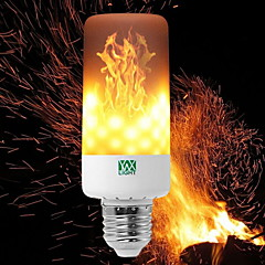 cheap LED Bulbs-YWXLIGHT® 6W 550-600 lm E14 E27 E12 B22 LED Corn Lights T 99 leds SMD 3528 Dimmable Flame Flickering Decorative Warm White 85-265V
