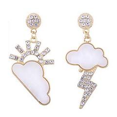 preiswerte Ohrringe-Damen Nicht übereinstimmend Tropfen-Ohrringe - Diamantimitate Klassisch, Süß Gold Für Alltag / Ausgehen