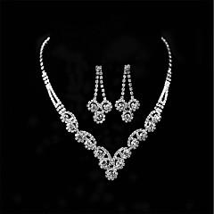 Mujer Pendientes colgantes Collares con colgantes Cristal Brillante Para Boda Fiesta de Noche Regalos de boda