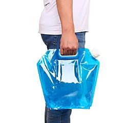 abordables Botellas de Agua-5l bolsa de agua para portátil portátil de almacenamiento de agua bolsa de elevación para acampar senderismo hidratación de supervivencia