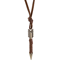 Муж. Жен. Ожерелья с подвесками Круглый Кожа Сплав Винтаж На каждый день Бижутерия Назначение Повседневные