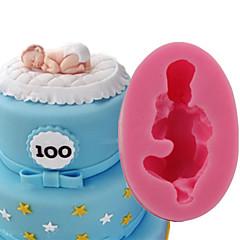 halpa -Bakeware-työkalut Silikoni 3D / DIY Kakku / Cookie / Piirakka 3D / Cartoon muotoinen / Sleeping Vauva kakku Muotit 1kpl