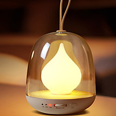 1pc LED Night Light Rechargeable Decoration with USB Port Dimmable USB Powered 2W Multi Colors