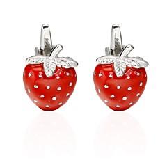 billiga Manschettknappar-Röd Manschettknappar Koppar Hjärta / Frukt Smycken / Romantisk Herr Kostymsmycken Till Valentine