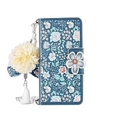 Недорогие Чехлы и кейсы для Galaxy Note 5-Кейс для Назначение SSamsung Galaxy Note 8 Note 5 Бумажник для карт Кошелек со стендом Флип Магнитный С узором Своими руками Чехол Цветы