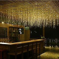 preiswerte LED Lichtstreifen-4m Leuchtgirlanden 96 LEDs LED Diode Warmes Weiß / Kühles Weiß / Blau Verbindbar 110-120 V 1pc / IP44