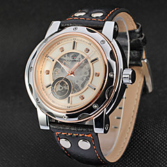 FORSINING Herr Vardaglig klocka Modeklocka Armbandsur Automatisk självuppdragande Äkta Läder Band Ledigt Häftig