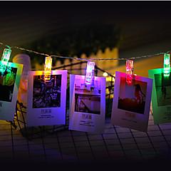 3mのフォトクリップホルダーは、クリスマスの新年のパーティーの結婚式の家庭装飾妖精のライトのバッテリー