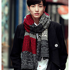 cheap Men's Accessories-Men's Classic / Basic Rectangle Scarf - Lattice / Fall / Winter