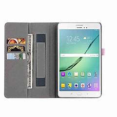 billige Galaxy Tab 3 Lite Etuier-Etui Til Tab S 8.4 Samsung Galaxy Tab A 8.0 Tab S2 8.0 Tab E 8.0 Tab A 8.0 Kortholder Pung Med stativ Auto Sove/Vågne Fuldt etui Helfarve