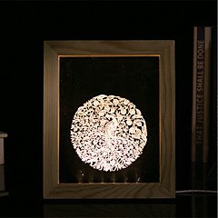 1 Set Of 3D Mood Night Light LED Lights USB Bedroom Photo Frame Lamp Gifts Phoenix