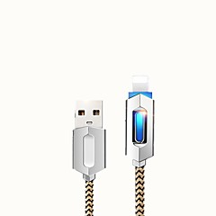 USB2.0 Quick Charge Braided Cable For Samsung Huawei Xiaomi Motorola 100 cm Zinc Alloy