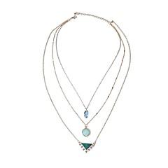 Női Rakott nyakláncok Szintetikus zafír Drágakő Ötvözet Gótikus Divat elegáns Méretes ékszerek Túlméretezett Ékszerek Kompatibilitás