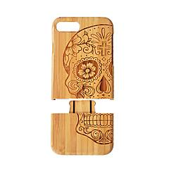 Недорогие Кейсы для iPhone 7 Plus-Кейс для Назначение iPhone 7 Plus / Apple iPhone 8 Plus / iPhone 7 Plus Защита от удара Кейс на заднюю панель Имитация дерева Твердый