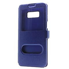 olcso Galaxy Note Edge tokok-Case Kompatibilitás Samsung Galaxy Note 8 Note 5 Pénztárca Állvánnyal Betekintő ablakkal Flip Teljes védelem Tömör szín Kemény Műbőr Bőr