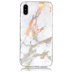 Недорогие Кейсы для iPhone 5-Кейс для Назначение Apple iPhone X iPhone 8 IMD С узором Кейс на заднюю панель Мрамор Мягкий ТПУ для iPhone X iPhone 8 Pluss iPhone 8