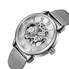 voordelige Dameshorloges-Heren Dames Skeleton horloge Militair horloge mechanische horloges Japans Automatisch opwindmechanisme Kalender Chronograaf
