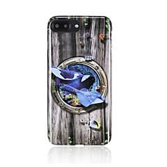 Недорогие Кейсы для iPhone 7 Plus-Кейс для Назначение iPhone 7 Plus IPhone 7 Apple iPhone 8 iPhone 8 Plus С узором Кейс на заднюю панель Мультипликация Животное Мягкий ТПУ