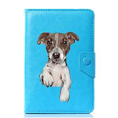 お買い得  タブレット用ケース-ケース 用途 フルボディーケース タブレットケース ソリッド 犬 ハード PUレザー のために