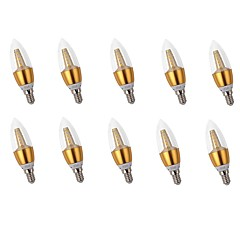 10pcs 5W E14 LED-stearinlyspærer C35 25 leds SMD 2835 LED Lys Dekorativ Varm hvid 400lm 2700K Vekselstrøm 220-240V