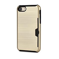 Недорогие Кейсы для iPhone 7-Кейс для Назначение Apple iPhone 7 Plus iPhone 7 Бумажник для карт Чехол Сплошной цвет Твердый ТПУ для iPhone X iPhone 8 Pluss iPhone 8