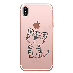 用途 iPhone X iPhone 8 iPhone 7 iPhone 7 Plus iPhone 6 ケース カバー パターン バックカバー ケース 猫 ソフト TPU のために Apple iPhone X iPhone 8 Plus iPhone 8 iPhone